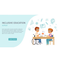 Inclusion inclusive education cartoon banner vector