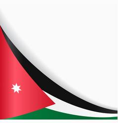 jordanian flag background vector image