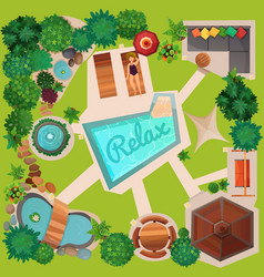 Landscape design top view vector