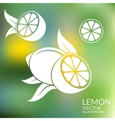 Lemon Abstract fruit on blurred background vector