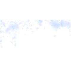 Light blue flower petals falling down fascinating vector