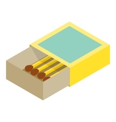 Matchbox isometric 3d icon vector image
