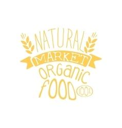 Natural Market Vintage Emblem vector