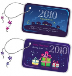 new year trinket tags 2010 vector image
