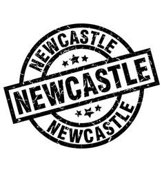 Newcastle black round grunge stamp vector