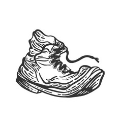 Old shabboot sketch engraving style vector