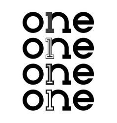 one logo monogram vector image