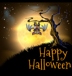 Orange halloween vampire bat background vector