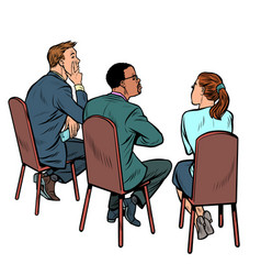 people at a business meeting businessman and vector image