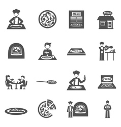 Pizzeria And Pizza Delivery Icons Set vector image