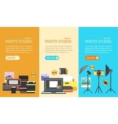 Professional Photo Studio Banner vector image