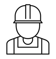 reconstruction worker icon outline style vector image