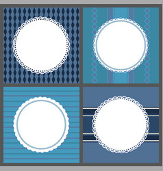 retro ornamental round frames isolated on blue vector image