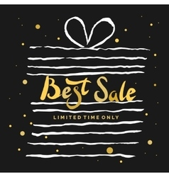 Sale poster hand draw brush in watercolor vector