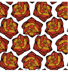seamless tracery with roses vector image