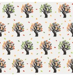 Seamless tree pattern vector