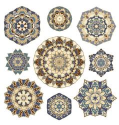 Set of abstract circular elements vector