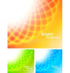 Set of bright backrounds vector image