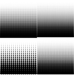 set of halftone vector image