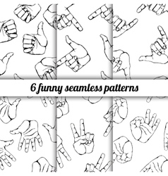 set with seamless patterns vector image