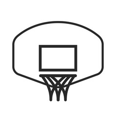 simple basketball hoop net and backboard vector image