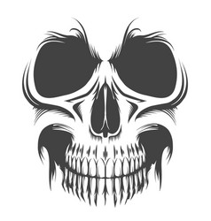 skull portrait tattoo vector image