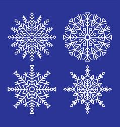 snowflakes collection closeup unique ice crystals vector image