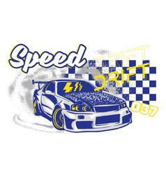 Sport car print vector