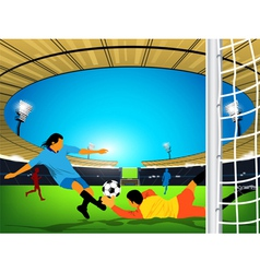Stadium Soccer game vector