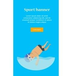 Swimming man sports banner vector