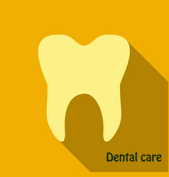 Teeth icon dentist flat icon for mobile user vector