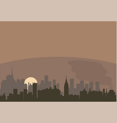 urban landscape a city pollution vector image