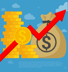 us dollar investment and saving vector image