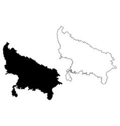 Uttar pradesh map vector