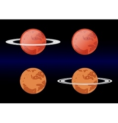 Variants Mars images eps 10 vector