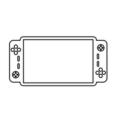 video game console portable line vector image