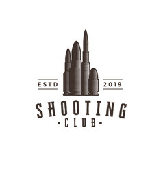 vintage hipster ammo bullet logo icon template vector image