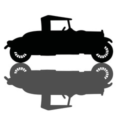 Vintage small convertible vector