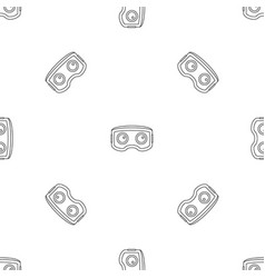 vr glasses pattern seamless vector image