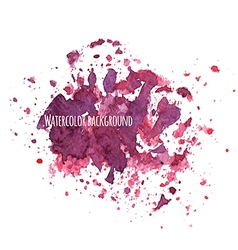 Watercolor background with splashes vector image