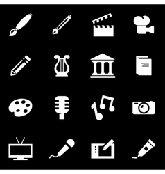 White art icon set vector