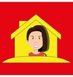 Woman hand house key vector