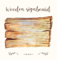 wooden signboard plank wooden signboard vector image