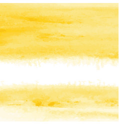 yellow watercolor texture background hand painted vector image