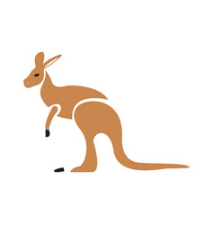 isolated abstract kangaroo vector image