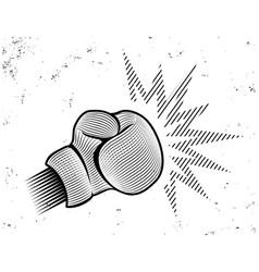 vintage emblem for boxing vector image