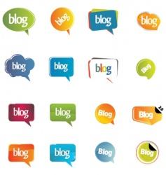 blog elements vector image vector image