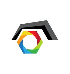 eye camera logo vector image
