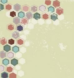 retro mosaic background vector image vector image