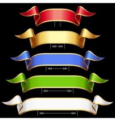 ribbon set with adjusting length vector image